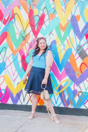 How I Styled A Teal Bow With A Blue Outfit