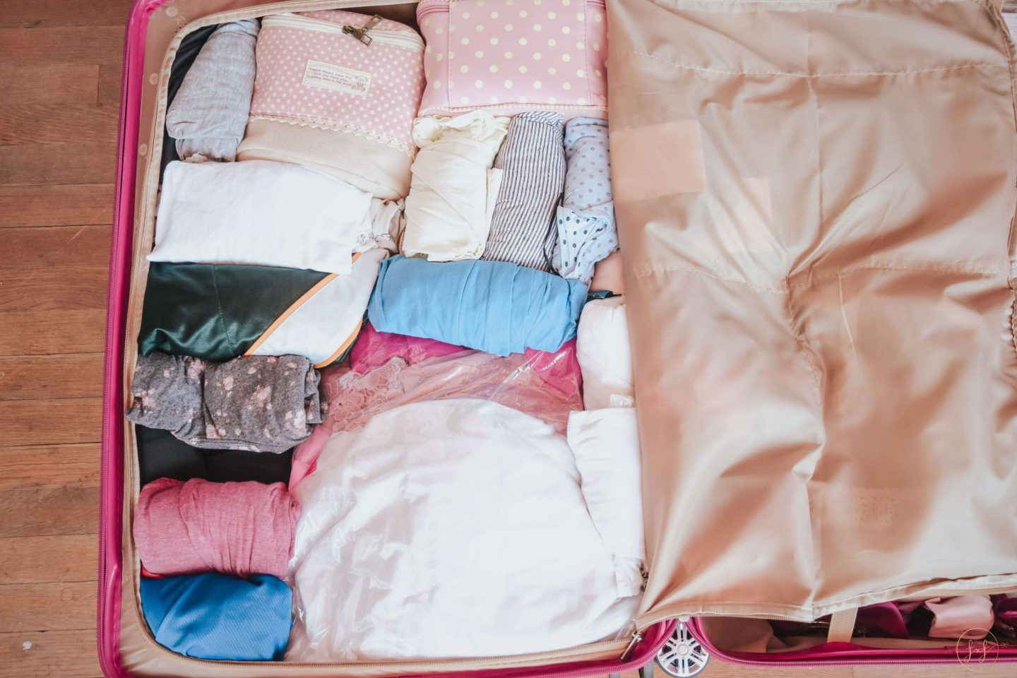 how I packed my luggage for my LA move