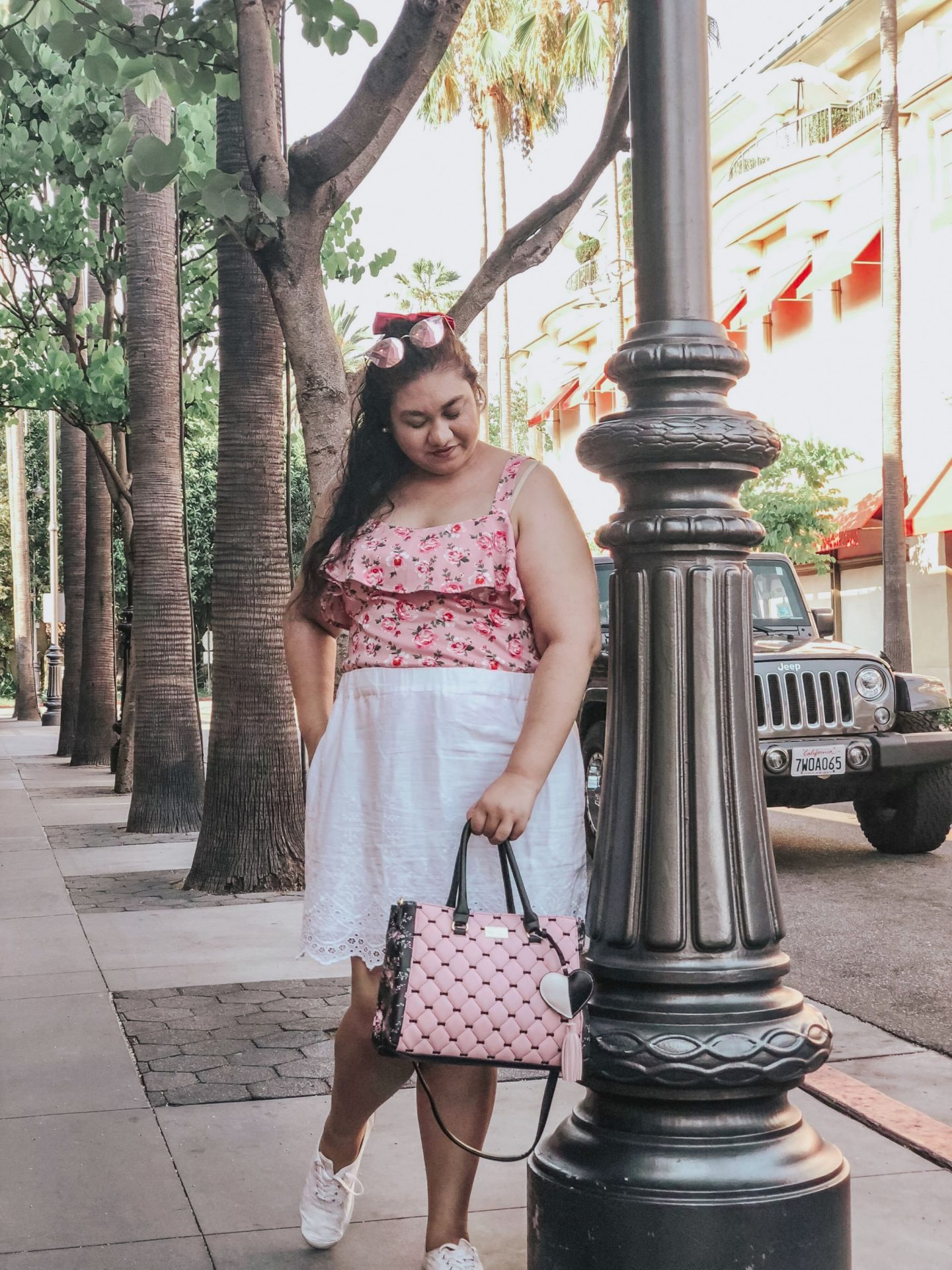 Pink At The Grove What I Wore