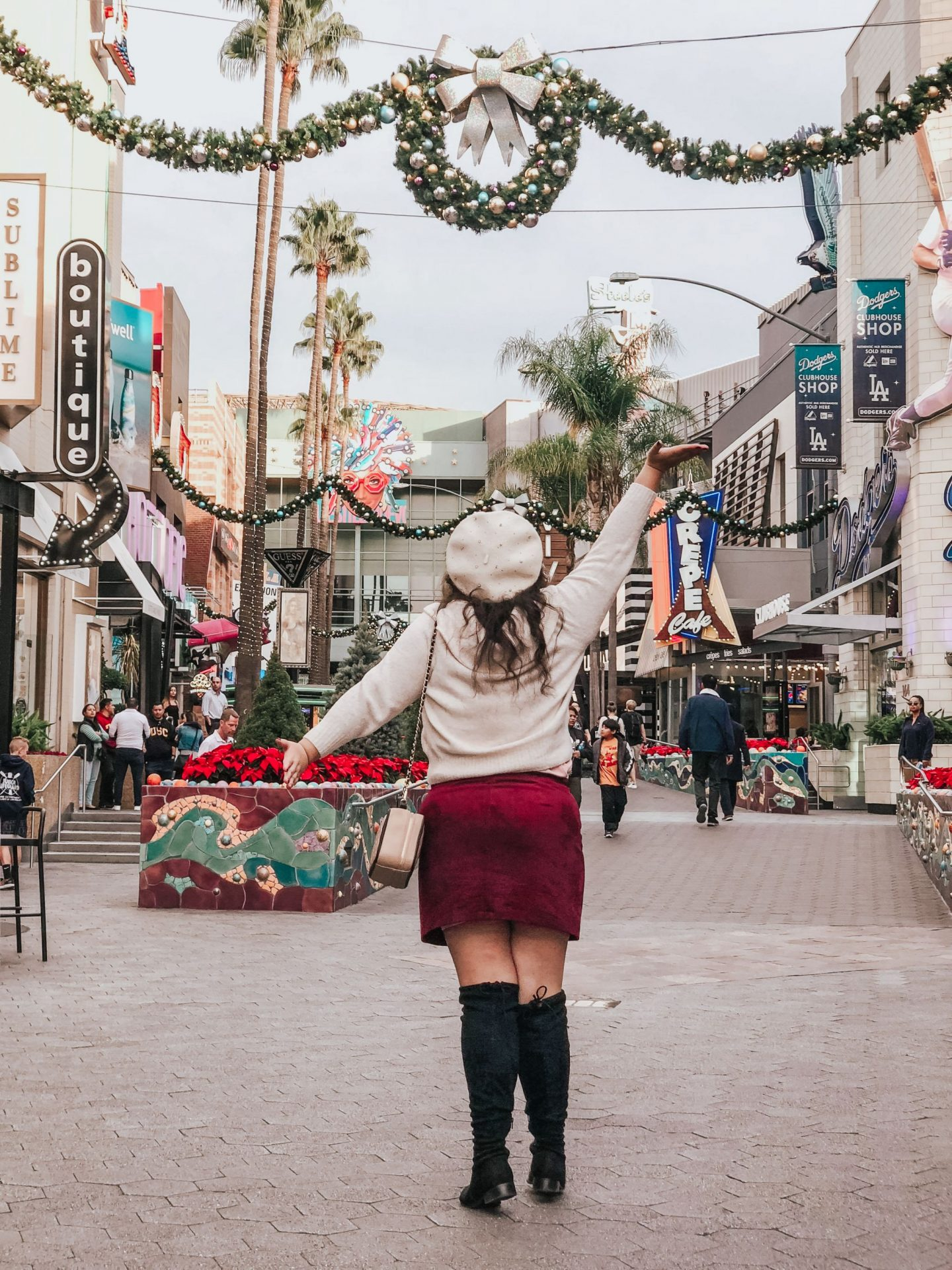 First Holiday Outfit of the Season at Universal City Walk