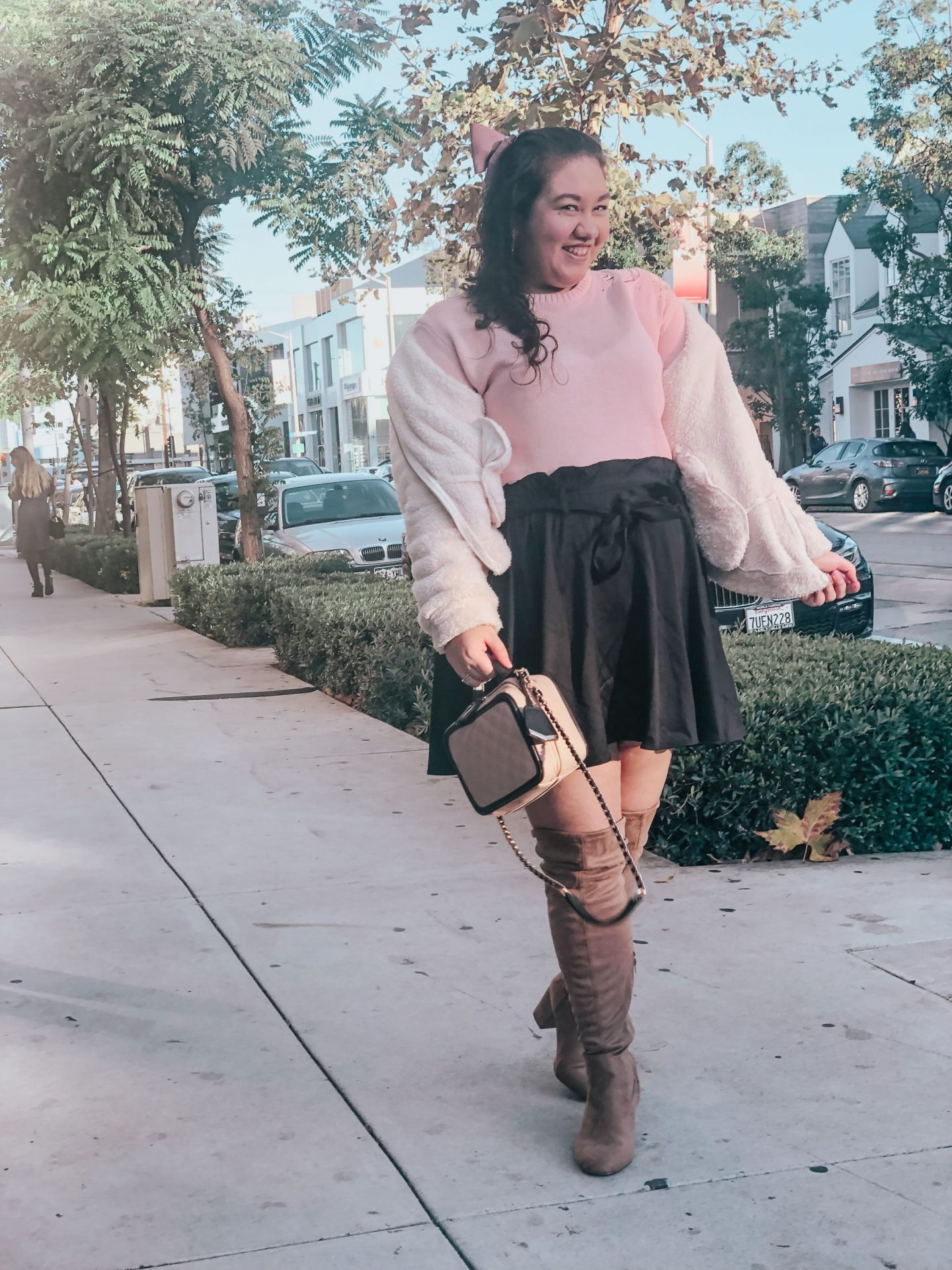Girly Outfit I Wore To Brunch at Urth Caffe