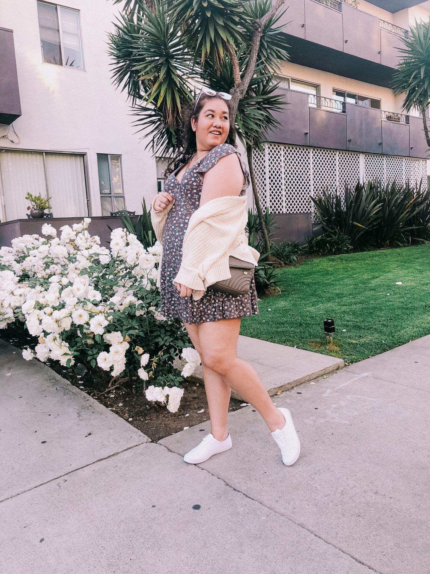 How I Style A Dress with Sneakers