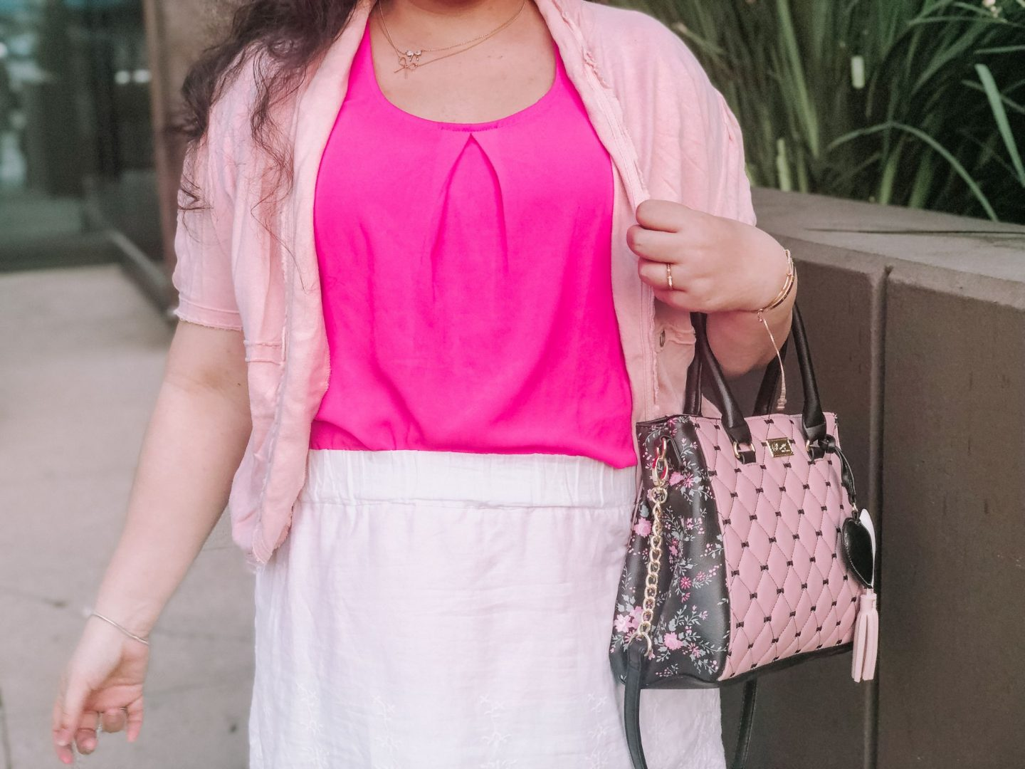A Pink Chic Work Wear Outfit Idea