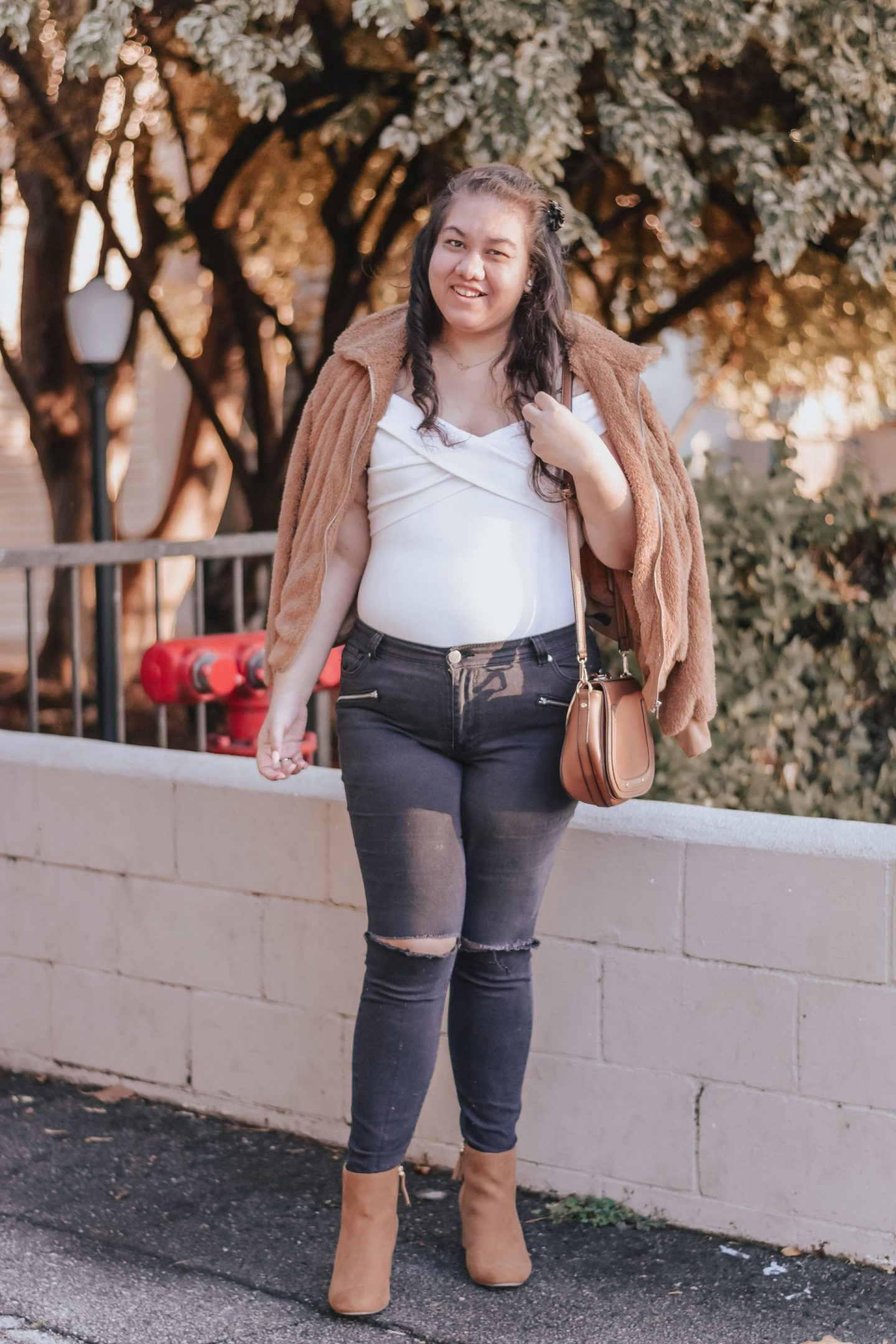 A Neutral Outfit I Wore on Thanksgiving