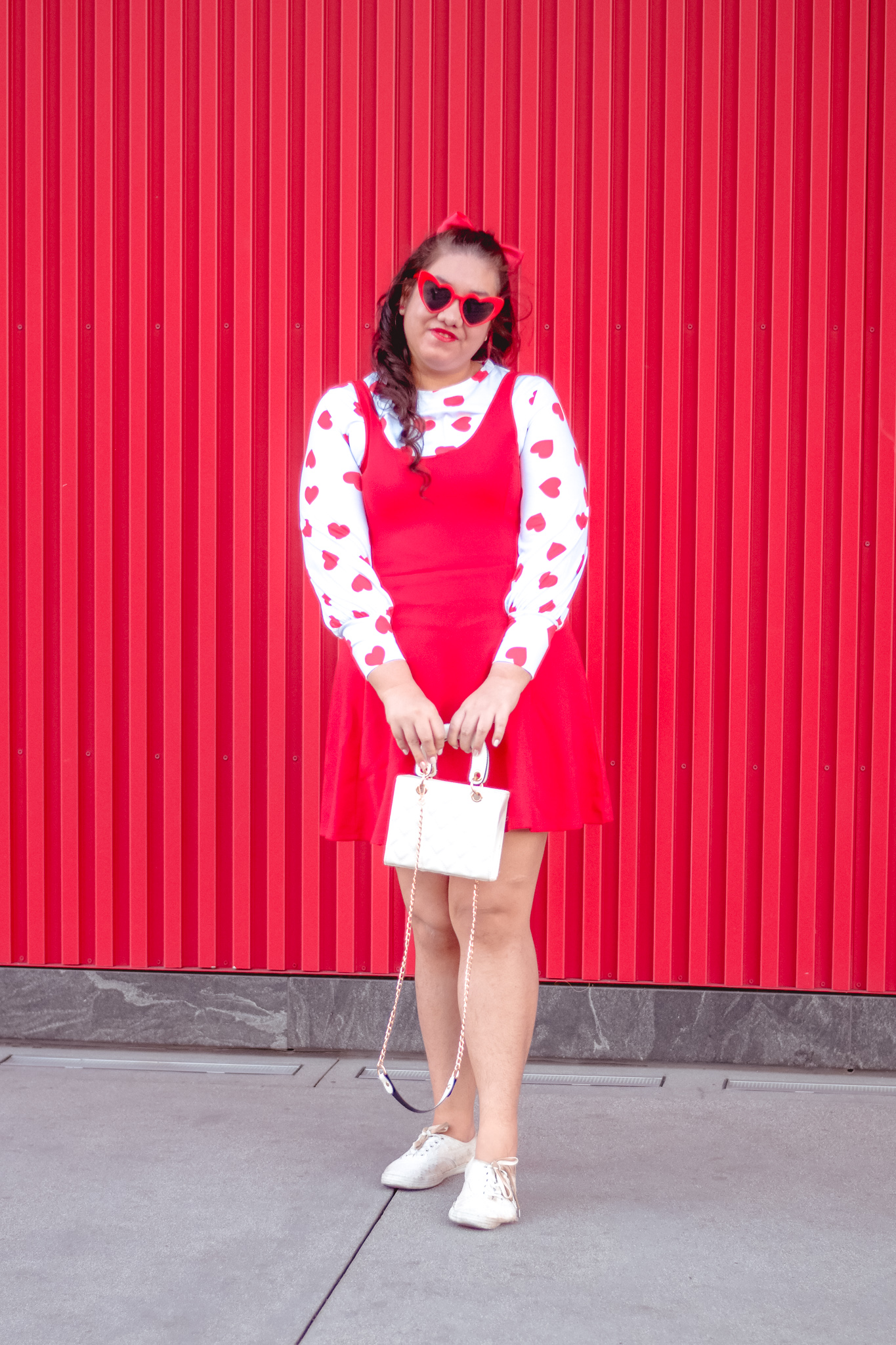 A Girly Valentine's Day Themed Outfit