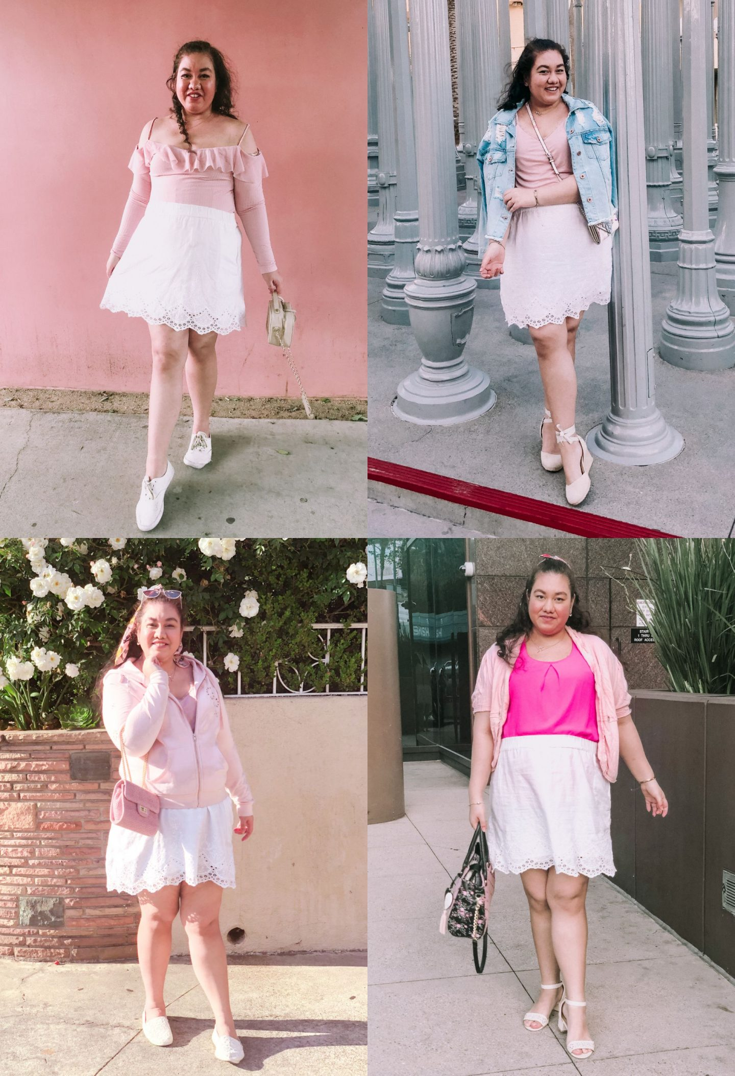 4 Ways To Style a White Skirt For Spring