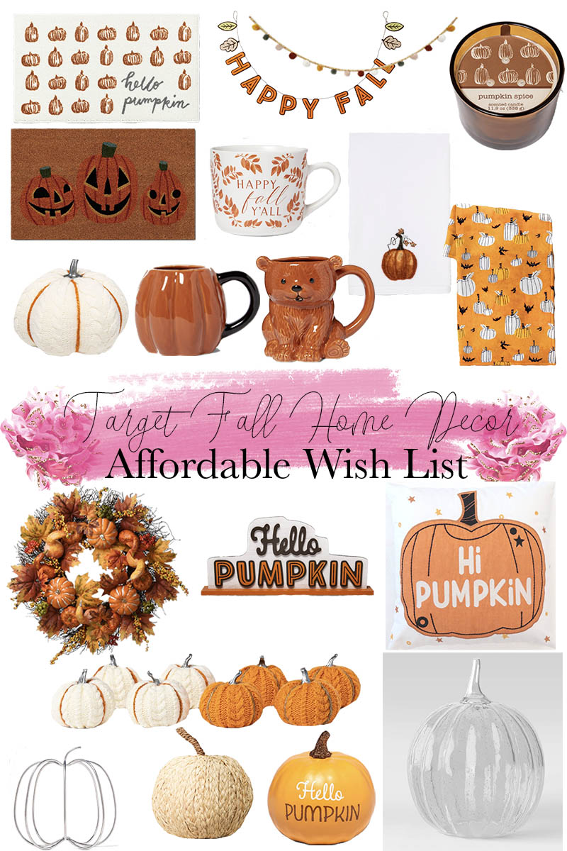 Target Fall Home Decor Wish List