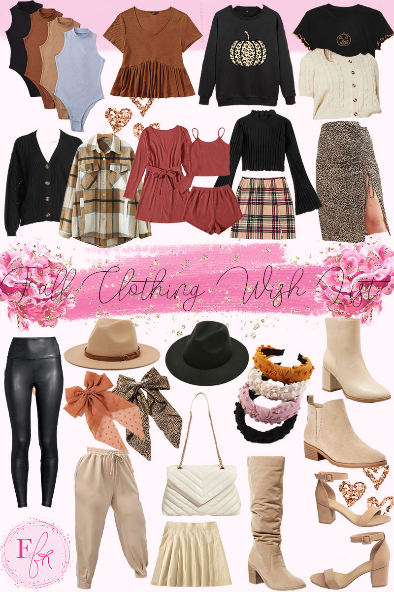 Prepping My Wardrobe For Fall Wish List